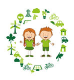 Ecological kids Royalty Free Stock Photography