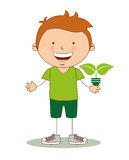 Ecological kids Royalty Free Stock Photos