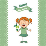 Ecological kids Royalty Free Stock Image