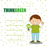 Ecological kids Royalty Free Stock Photo