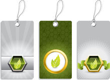 Ecological label designs Royalty Free Stock Photo