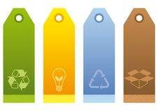 Ecological Labels. In four colors Royalty Free Stock Photography