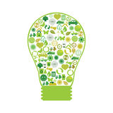Ecological lamp Stock Photography