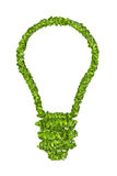 Ecological light bulb icon from the green grass. Royalty Free Stock Photos