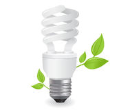 Ecological lightbulbs illustration Stock Image