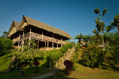 Ecological lodge in amazon rainforest, Yasuni Royalty Free Stock Images
