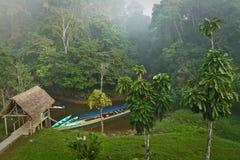 Ecological lodge in amazon rainforest, Yasuni Royalty Free Stock Images