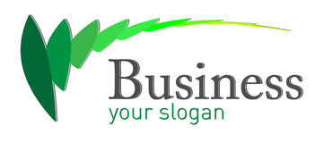 Ecological logo. With green leaves elements royalty free illustration