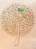 Ecological love tree with two green  hearts. Ecological love tree with two green  hearts Royalty Free Stock Photo