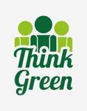 Ecological mind design Royalty Free Stock Images