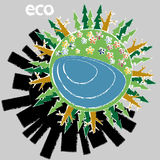 Ecological planet Stock Image