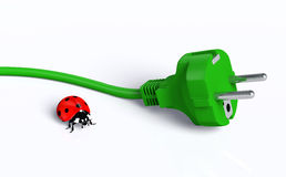Ecological plug with ladybug Stock Image