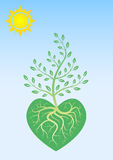 Ecological poster. To love and preserve the nature Stock Photo