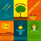Ecological Posters Set Royalty Free Stock Photography