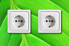 Ecological power outlet Royalty Free Stock Images