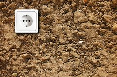 Ecological power outlet Stock Images