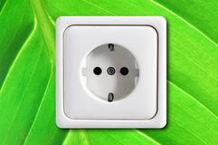 Ecological power outlet Royalty Free Stock Photography