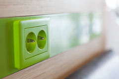Ecological power outlet Royalty Free Stock Image