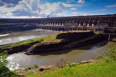 Ecological power plant dam Royalty Free Stock Photography