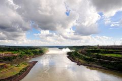 Ecological power plant dam Stock Image