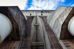 Ecological power plant factory dam Stock Photo