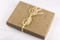 Ecological present box Royalty Free Stock Photo