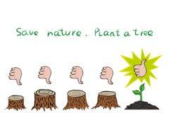 Ecological problem of deforestation Stock Image