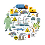Ecological Problems Elements Composition Royalty Free Stock Photos
