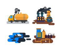 Ecological problems, environmental pollution vector Royalty Free Stock Images