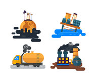 Ecological problems, environmental pollution vector Royalty Free Stock Image