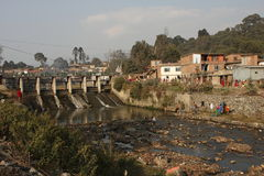 Ecological problems in Nepal Stock Image