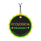 Ecological product tag Royalty Free Stock Images