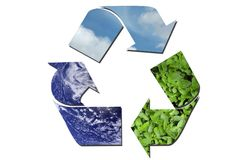Ecological recycle sign Stock Photography