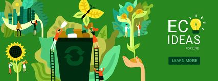 Ecological Restoration Header Illustration Royalty Free Illustration