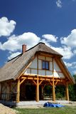 Ecological rural wooden house Stock Images
