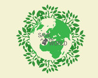 Ecological and save the world green. Green earth - sustainable development concept Stock Image