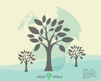 Ecological and save the world green. Green earth - sustainable development concept Stock Photography