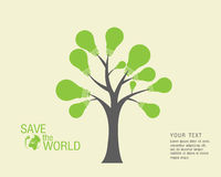 Ecological and save the world green Royalty Free Stock Photography
