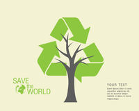 Ecological and save the world green. Green earth - sustainable development concept Royalty Free Stock Images
