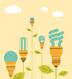Ecological saving lamps Stock Images