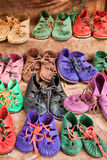 Ecological shoes for children Stock Photography