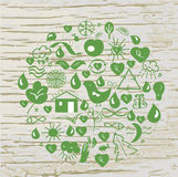 Ecological signs conceptual background Royalty Free Stock Photography