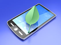 Ecological Smartphone Royalty Free Stock Photo