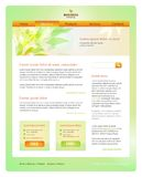 Ecological or spring web site design template Stock Photography