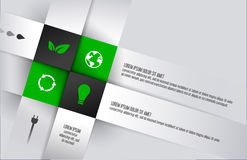Ecological square cube box infographics with icons. Square background for business concepts .Wallpaper. Vector illustration Stock Image