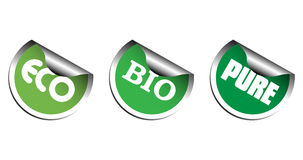 Ecological stickers Stock Photography