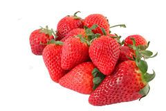 Ecological strawberries. Grown and harvested with respect for nature stock photos