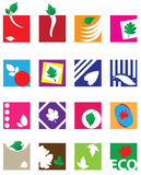 Ecological symbols Stock Images