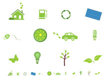 Ecological symbols icon set Royalty Free Stock Photo
