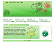 Ecological template design Royalty Free Stock Images